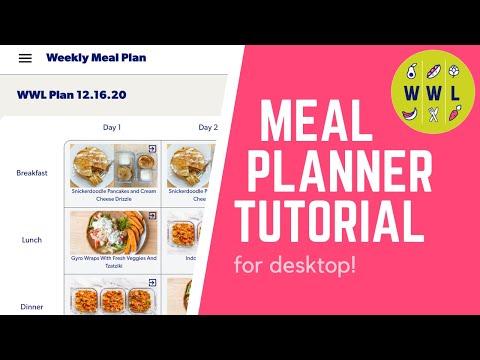 The New Workweek Lunch Meal Planner | Desktop Tutorial