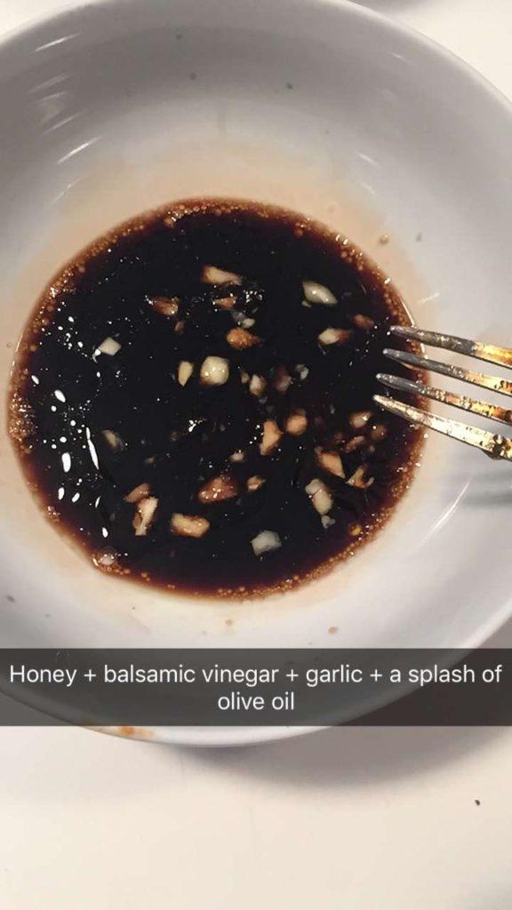 balsamic honey sauce with garlic