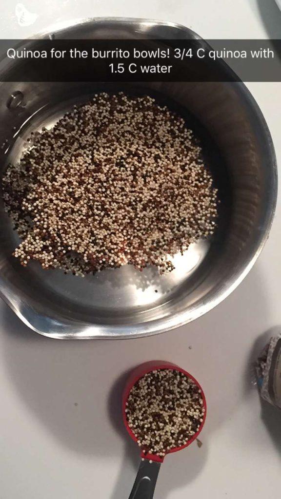 quinoa in a pot