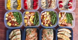 BBQ Pineapple Chicken with Green Beans and Brown Rice Meal Prep