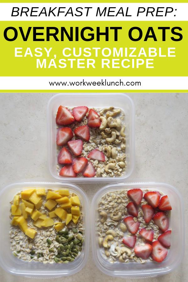 Breakfast Meal Prep Recipe Overnight Oats