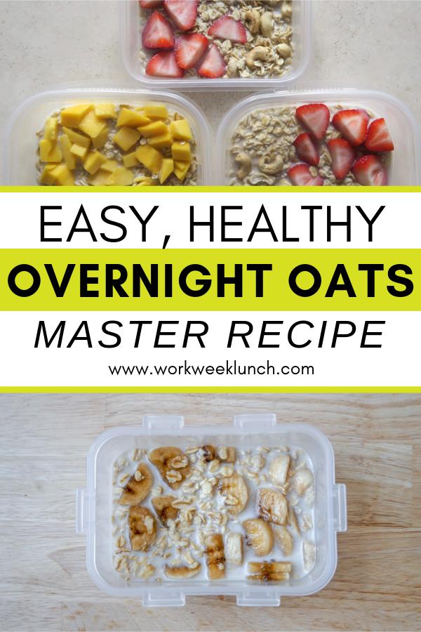 Easy, Healthy Overnight Oats Master Recipe