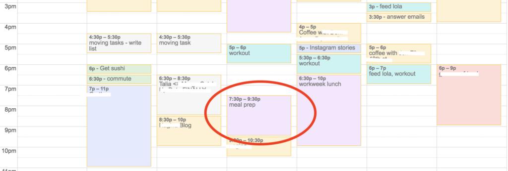 organized calendar