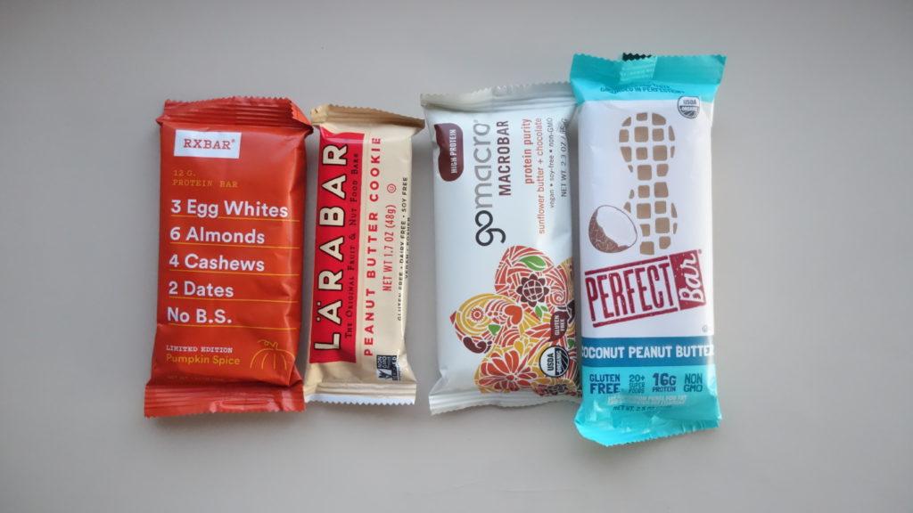 protein bars meal prep snacks