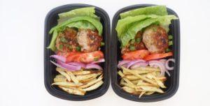 Lean Turkey Burgers With Sweet Potato Fries Meal Prep (GF)