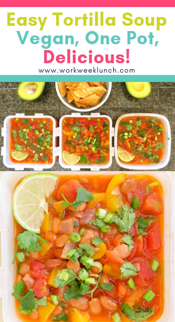 Easy Vegan One Pot Tortilla Soup