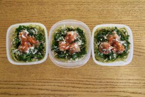 Budget Recipe: Turkey Meatballs With Sauteed Kale And Pesto Pasta