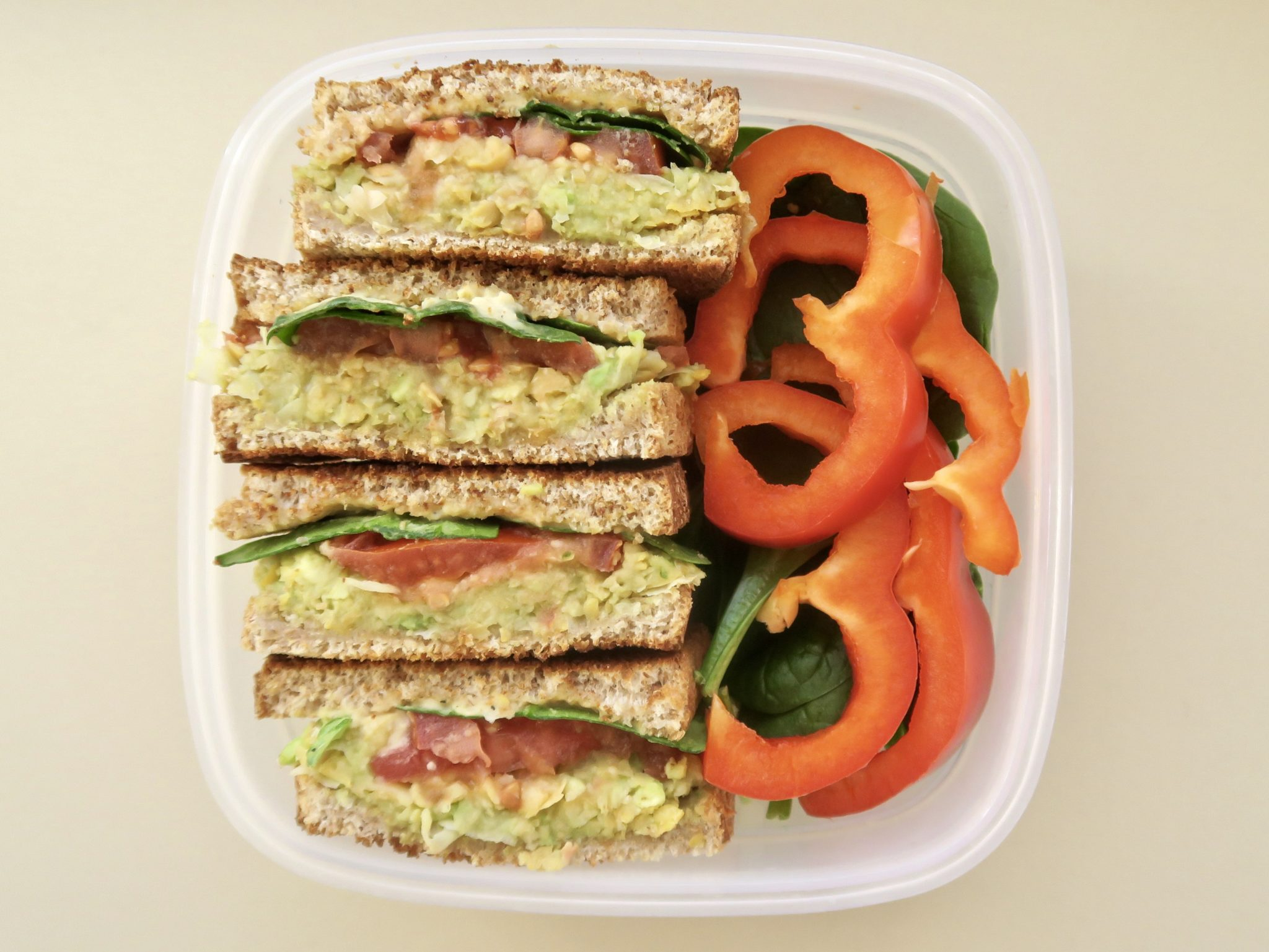 no cook vegan meals Chickpea Avocado Sandwich