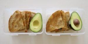 Easy Red Pepper, Spinach & Cheddar Quesadillas (Vegetarian)