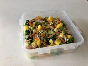 No-Reheat Edamame Mango Quinoa Bowls