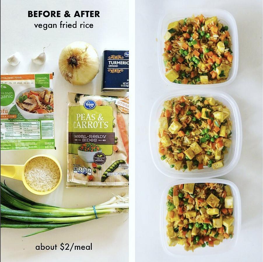plant based vegan fried rice