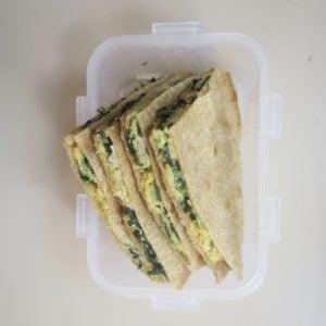Egg, Cheese And Spinach Breakfast Quesadillas (Vegan & GF-Friendly)