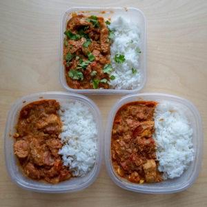 Almost One-Pot Vegan Butter Tofu & Rice