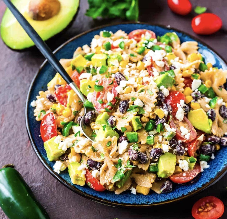 mexican pasta salad, no reheat