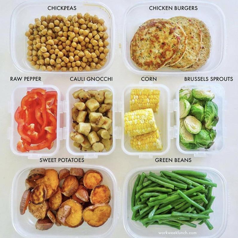 buffet meal prep ingredients