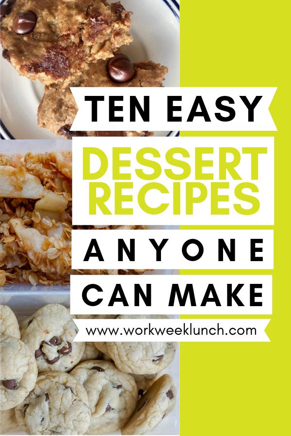 Easy Dessert Recipes Anyone Can Make