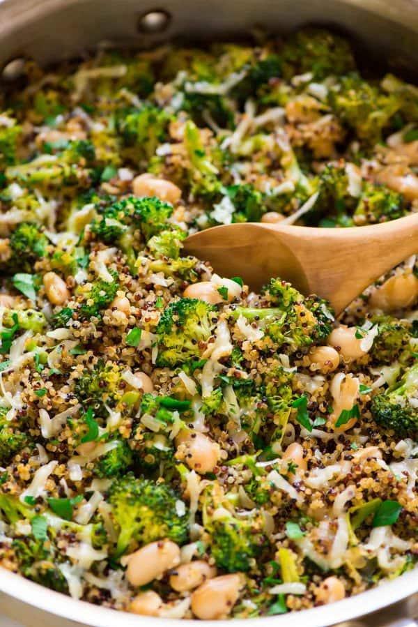one-pan dinner idea broccoli skillet