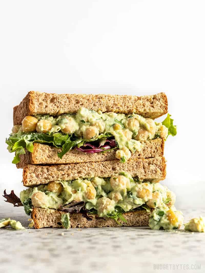 no-cook recipe chickpea sandwich