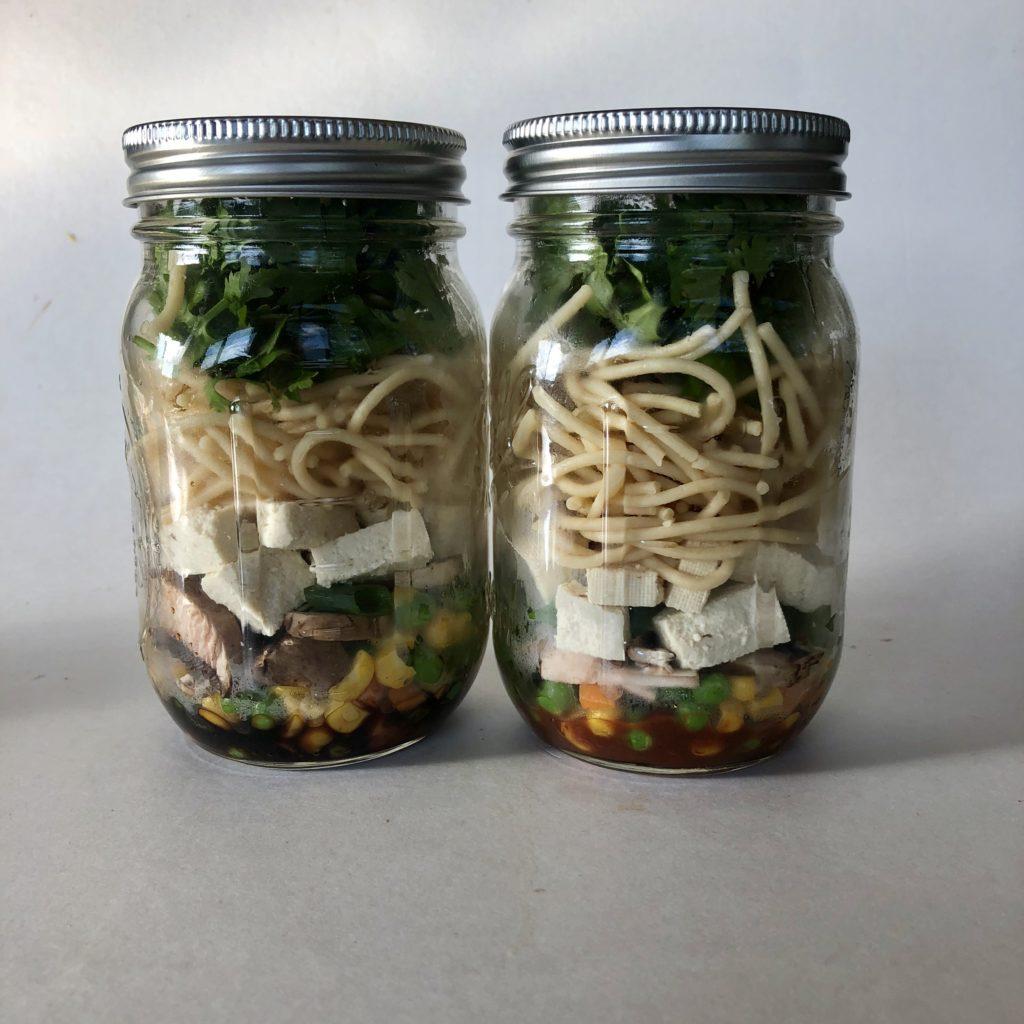 instant noodle pantry prep