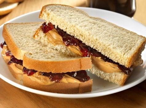 peanut butter jelly sandwich pantry lunch