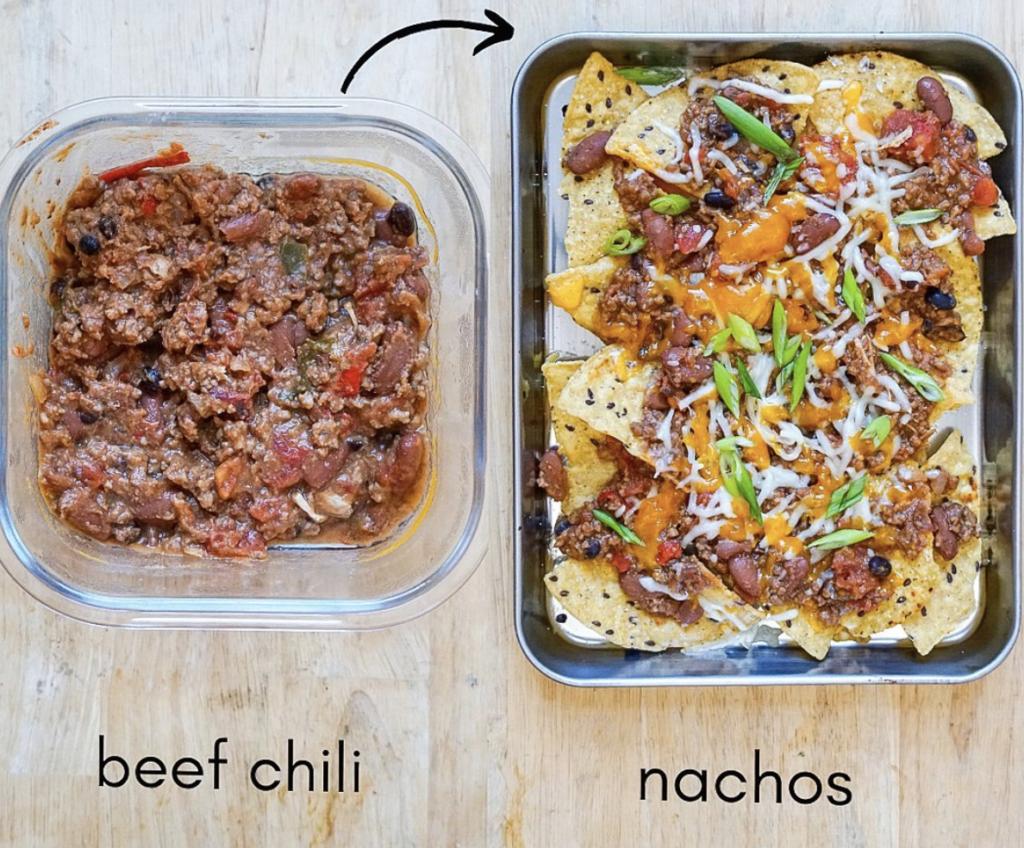 beef chili recipe turned into nachos