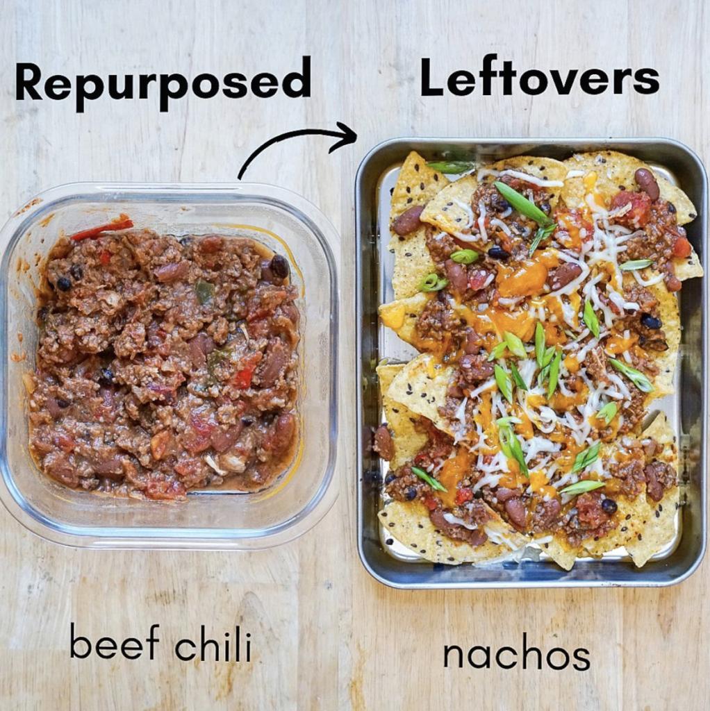 leftovers repurposed chili