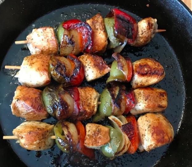 Summer Meals: Skillet Chicken Kabobs