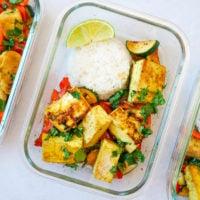 Satay Tofu Bowls With Rice & Stir Fried Veggies