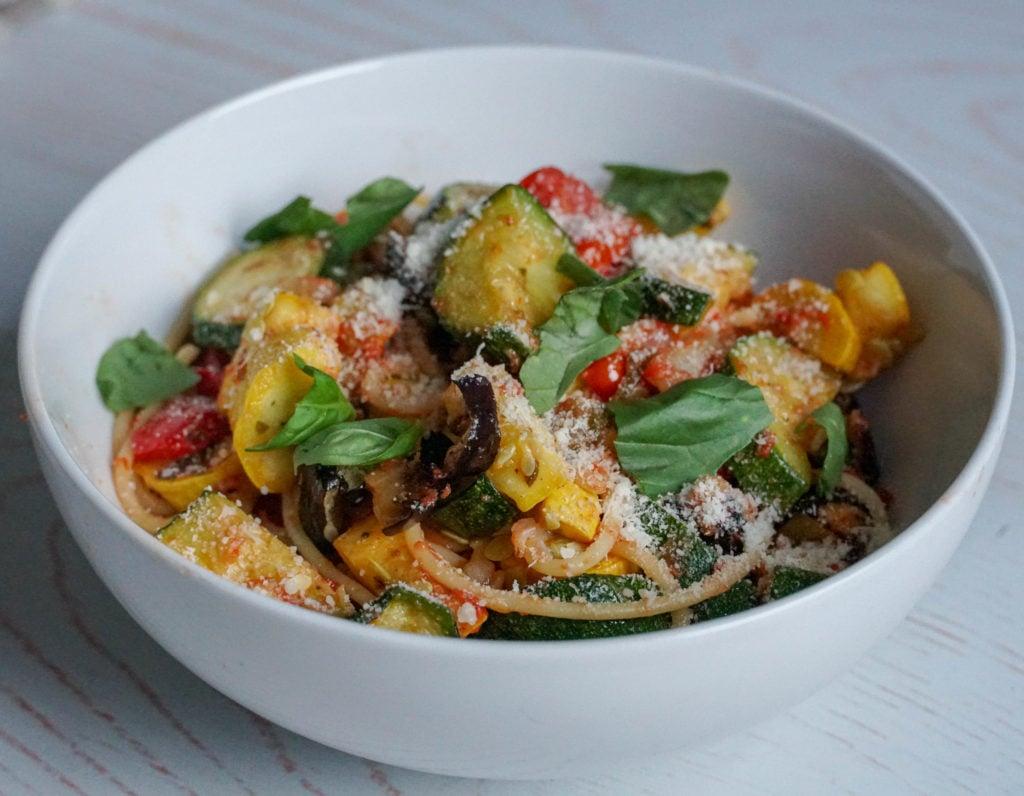 easy ratatouille recipe- sheet pan meal