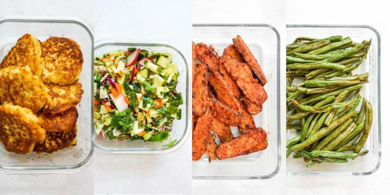 Vegetarian BBQ meal prep
