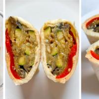 Grilled Veggie Hummus Wraps (Easy Lunch Prep!)