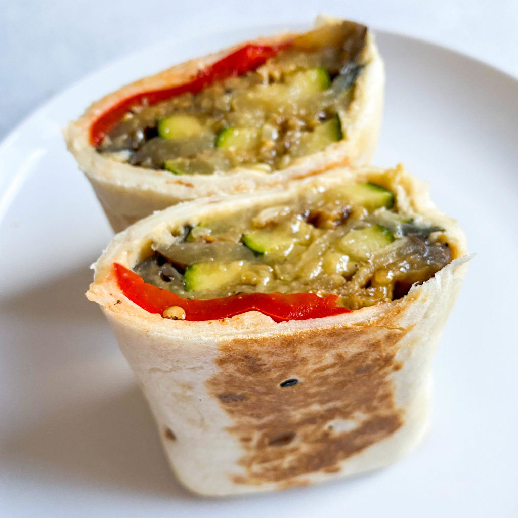 grilled veggie hummus wraps from workweek lunch- perfect for meal prep