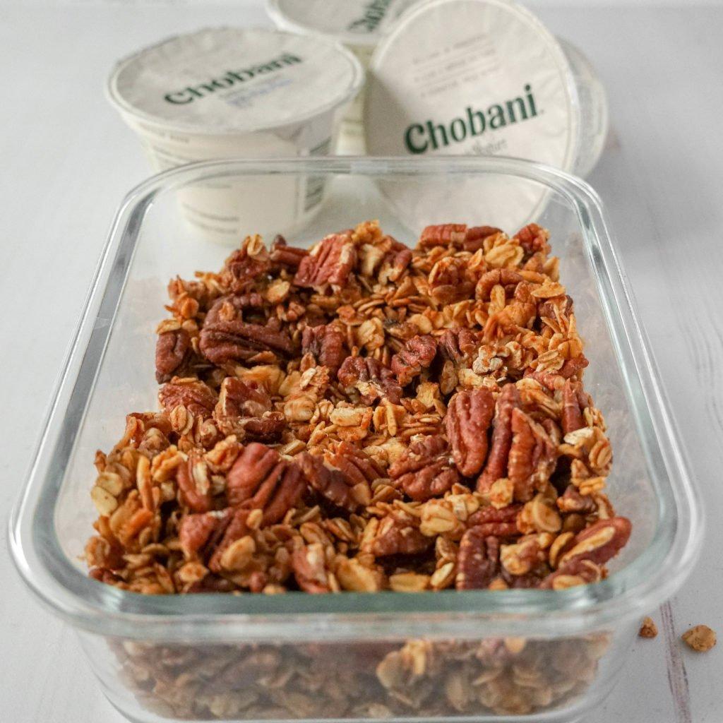 homemade granola for parfait recipe