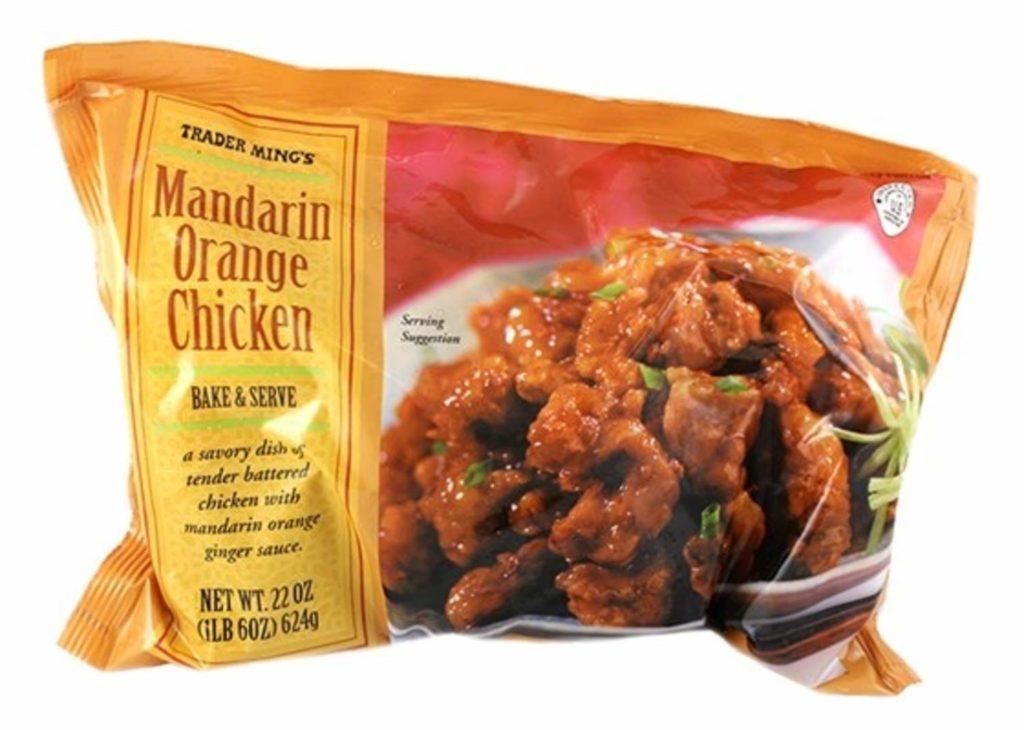 bag of Trader Joe's frozen mandarin orange chicken