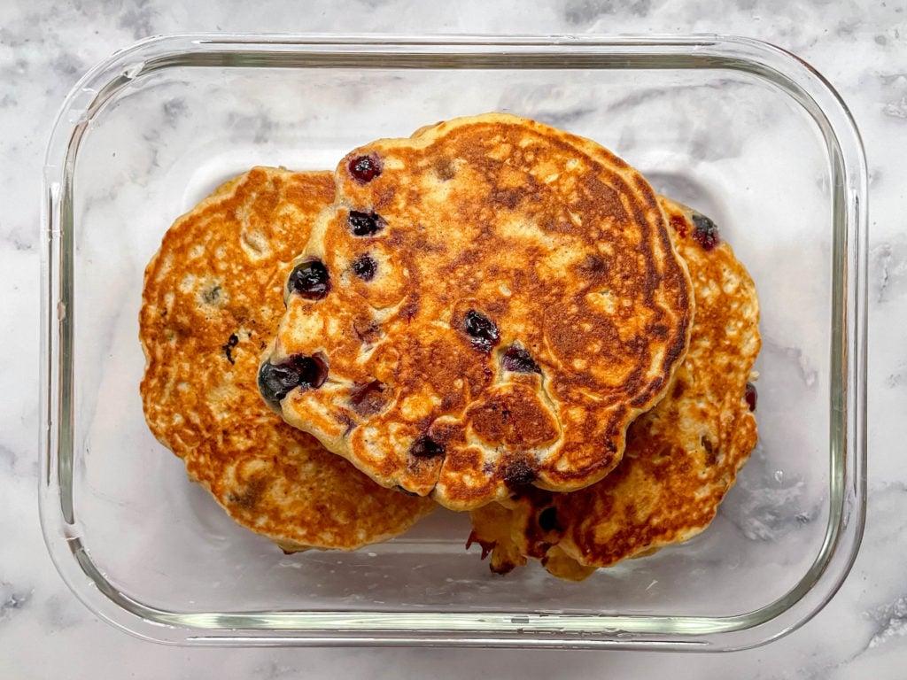 lemon blueberry pancakes for meal prep