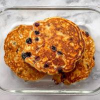 Blueberry Lemon Pancakes For Meal Prep