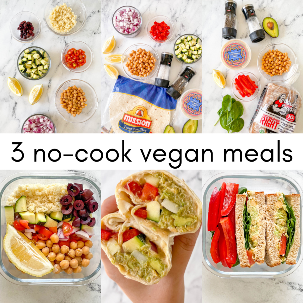 3 no-cook meals that are vegan and meal prep friendly