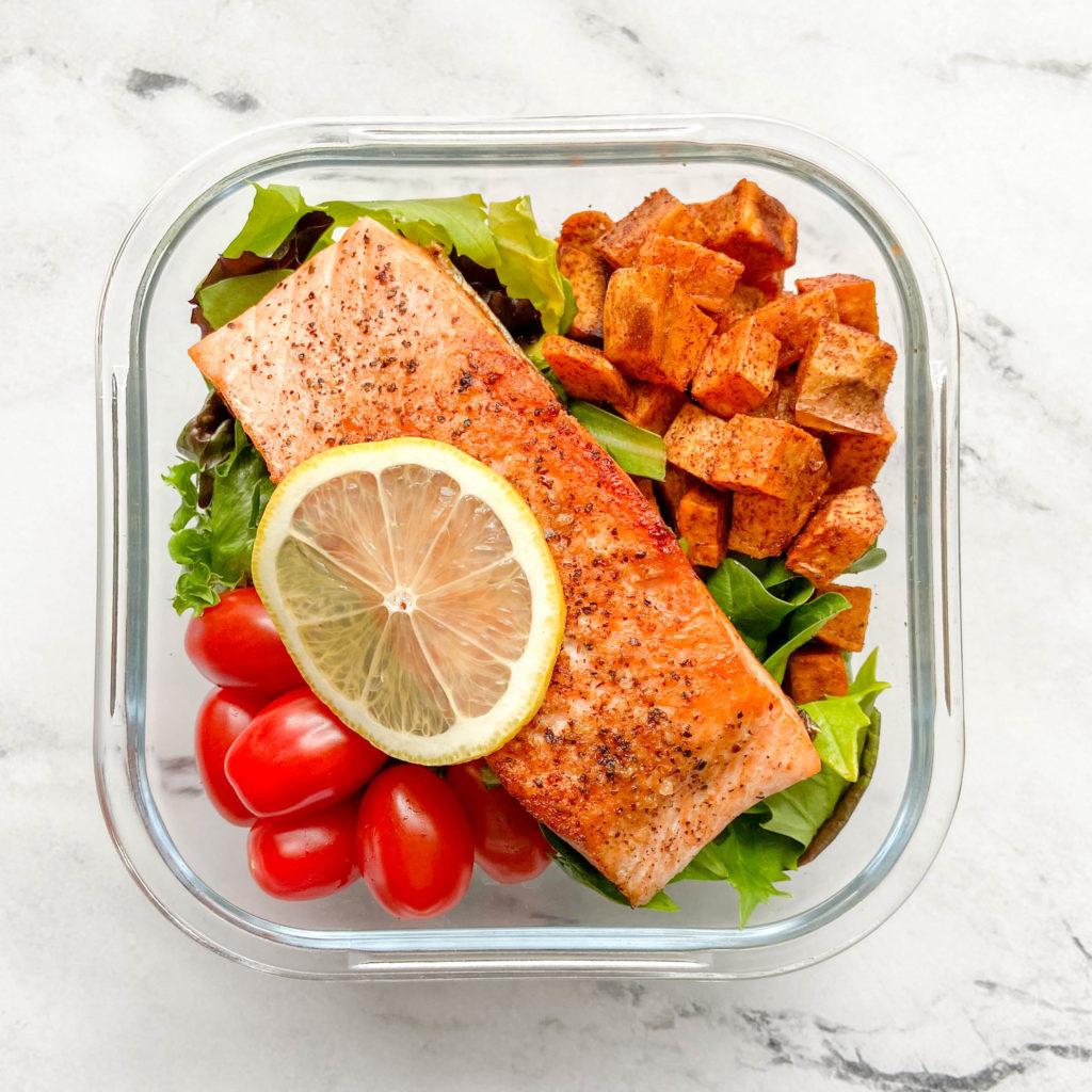 Honey Dijon Salmon Bowls for Meal Prep