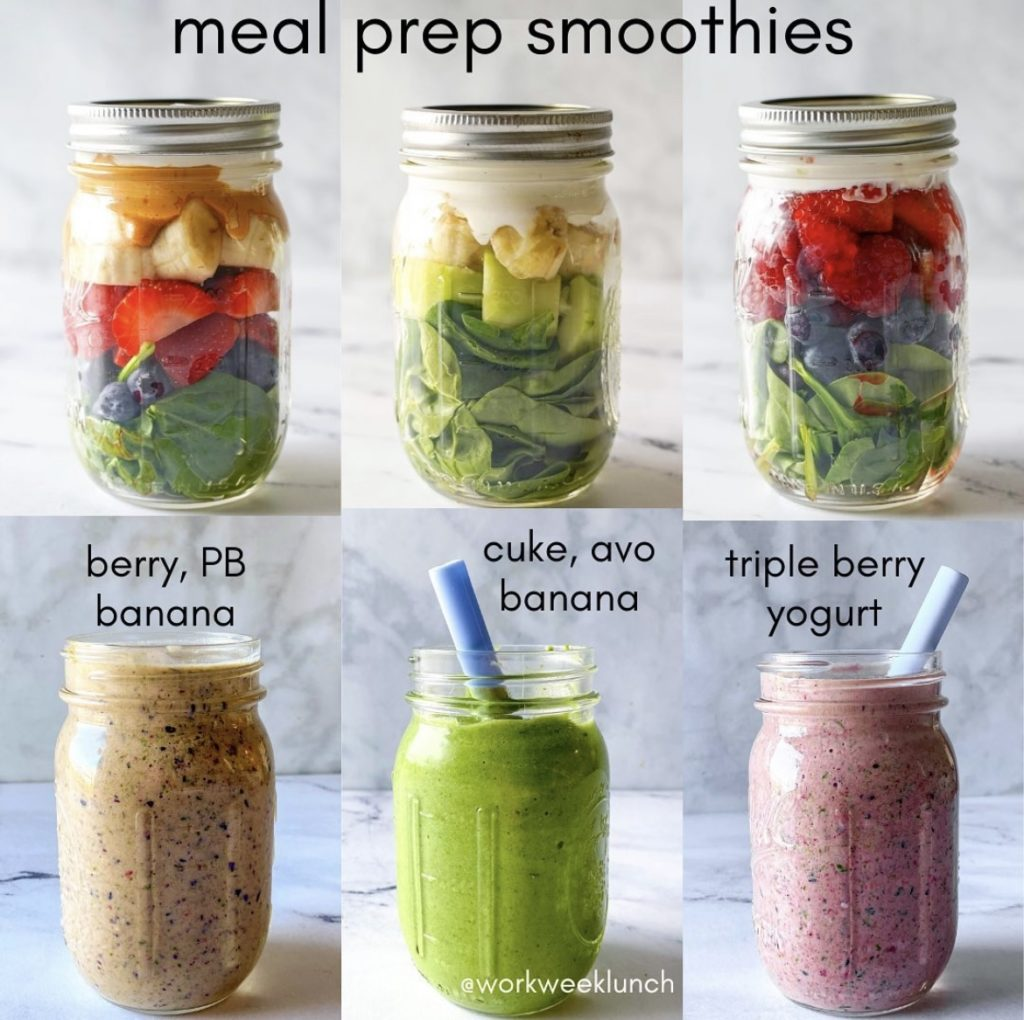 smoothies for breakfast or snacks