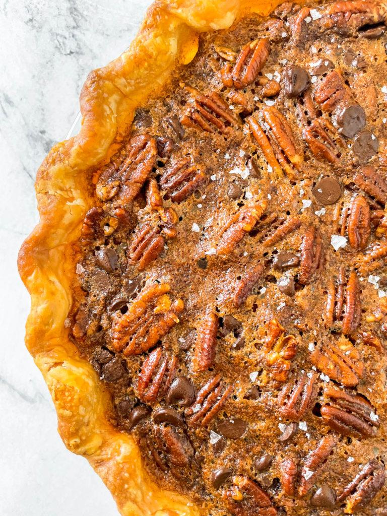 pie crust- chocolate pecan pie