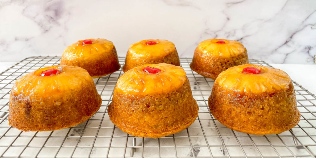 mini pineapple upside down cakes - perfect for a holiday party